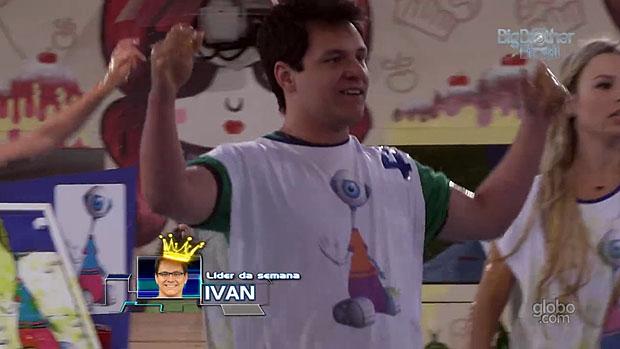 Ivan vence a prova e é o novo líder do BBB 13