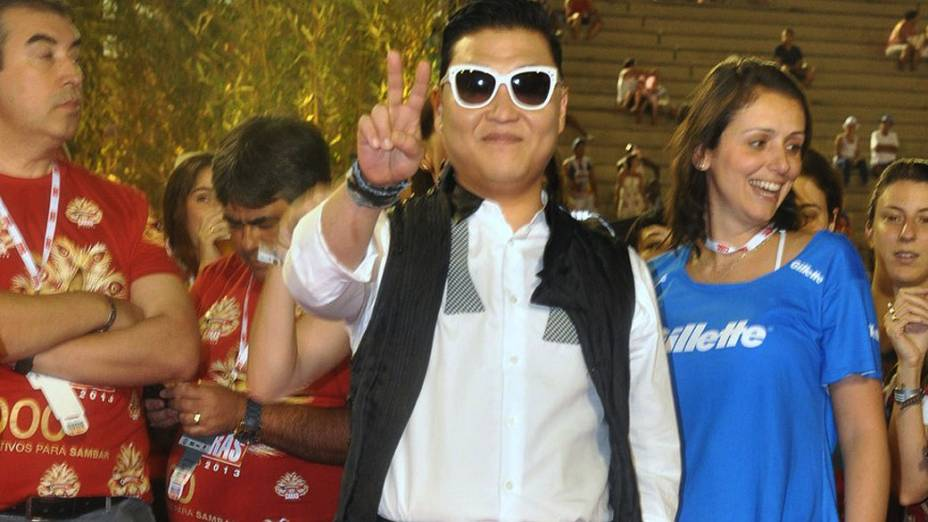 O intérprete de Gangnam Style no Sambódromo, no Rio