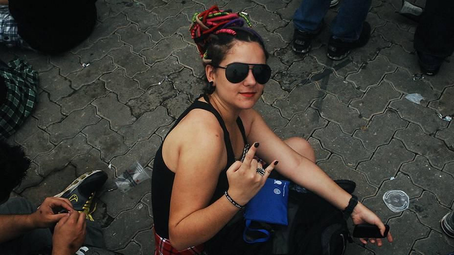 Fãs durante o quarto dia do Rock in Rio 2013
