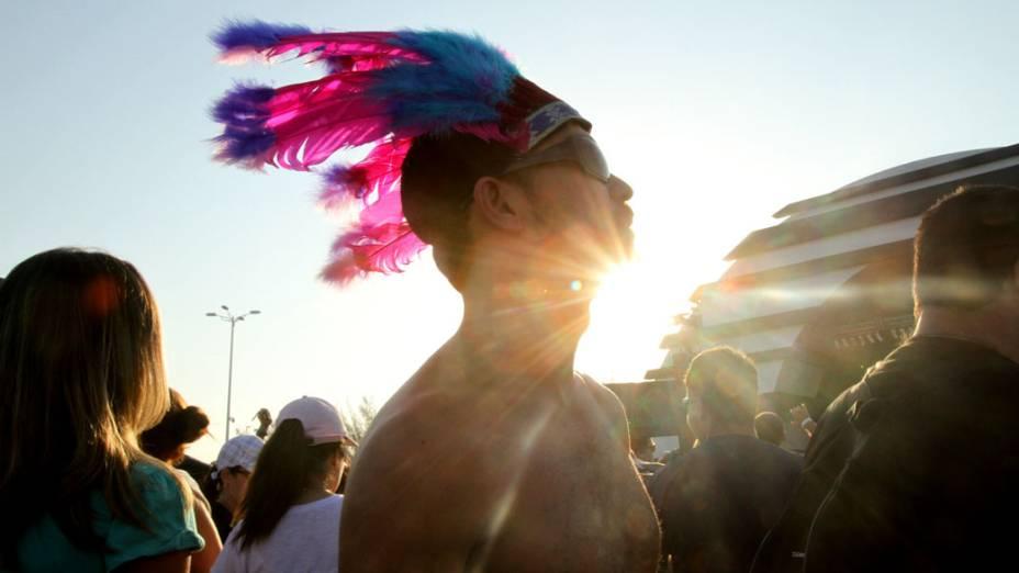 O público na Cidade do Rock, no quarto dia do Rock in Rio, em 29/09/2011