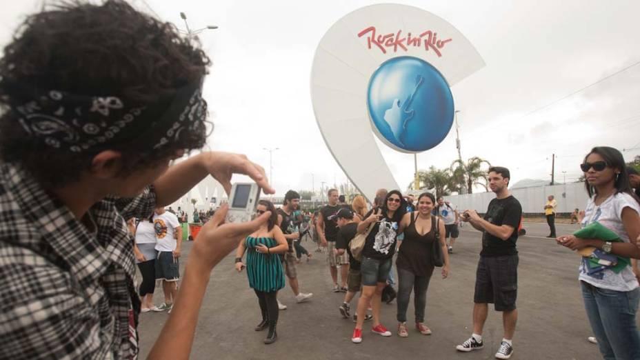 O público no último dia do Rock in Rio, em 02/10/2011