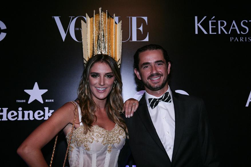 Rafa Brites e Felipe Andreoli no Baile da Vogue