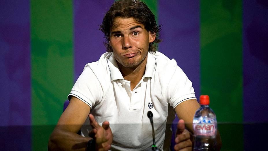 Rafael Nadal, durante coletiva de imprensa em Junho de 2012