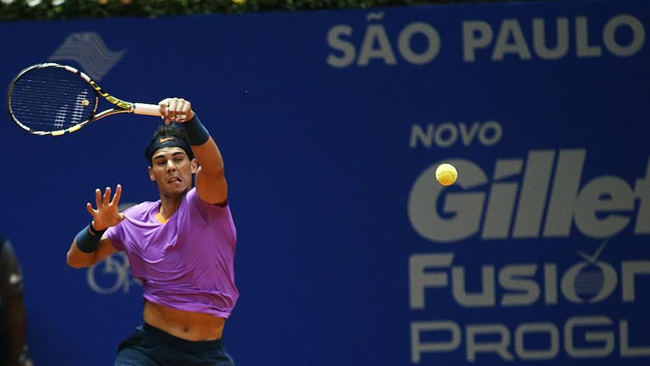 Rafael Nadal voltou a jogar o torneio de simples do Brasil Open 2013, no Ginásio do Ibirapuera, em São Paulo
