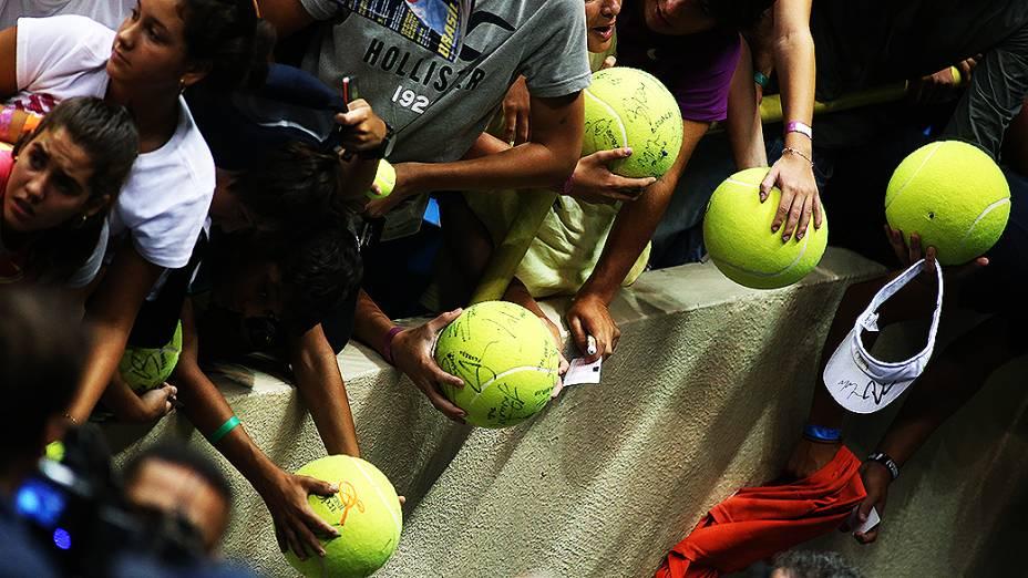 O ginásio do Ibirapuera ficou cheio para ver o espanhol Rafael Nadal no Brasil Open 2013