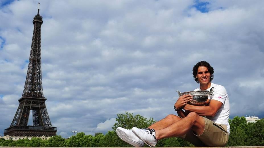 Rafael Nadal e seu sétimo troféu de Roland Garros, que conquistou em Paris