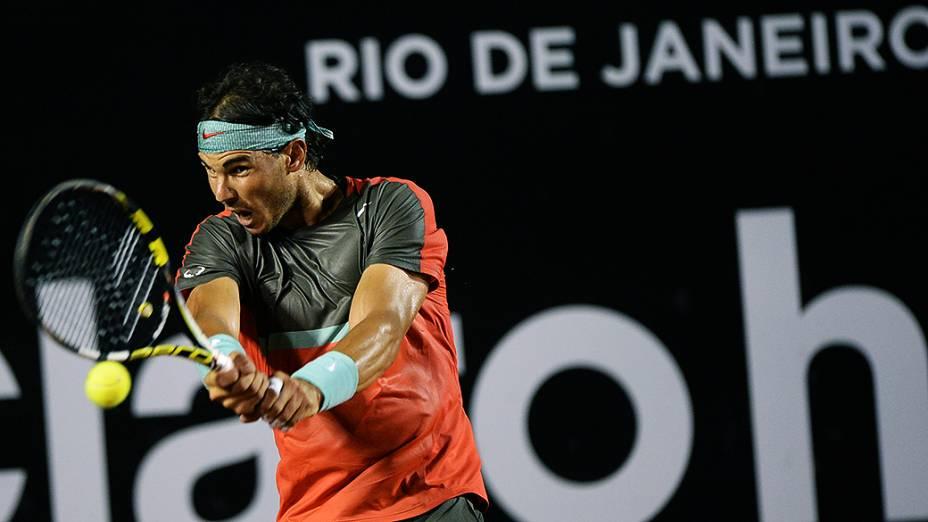 O tenista Rafael Nadal no Rio Open 2014, no Rio de Janeiro