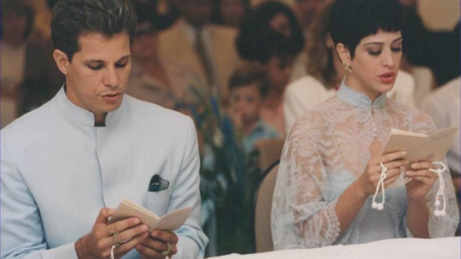 Edson Celulari e Cláudia Raia casaram-se em cerimônia budista em 1993