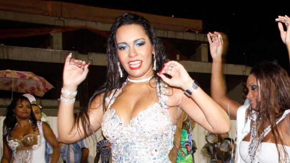 Raíssa Oliveira no ensaio Tecnico da Beija Flor, no Sambódromo do Rio de Janeiro