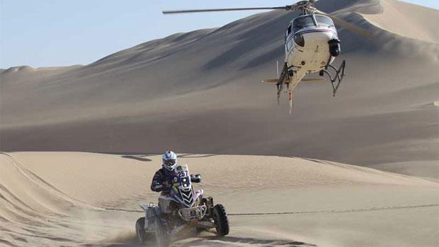 O argentino Tomas Maffei, durante a décima terceira etapa do rali Dakar