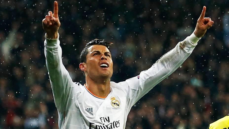 Cristiano Ronaldo: 14 gols nesta temporada da Liga dos Campeões