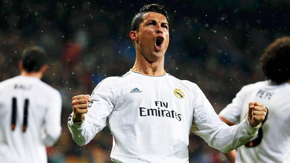 Cristiano Ronaldo comemora seu gol contra o Borussia Dortmund