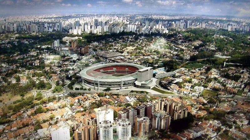 Projeto da cobertura do Estádio do Morumbi, em São Paulo