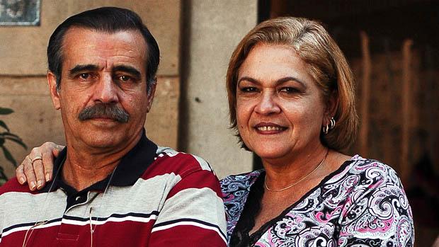 Walter Breda e Regina Dourado na novela América