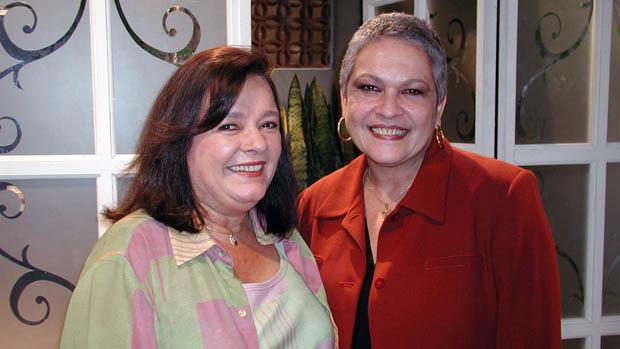 Bete Mendes e Regina Dourado na novela Seus Olhos