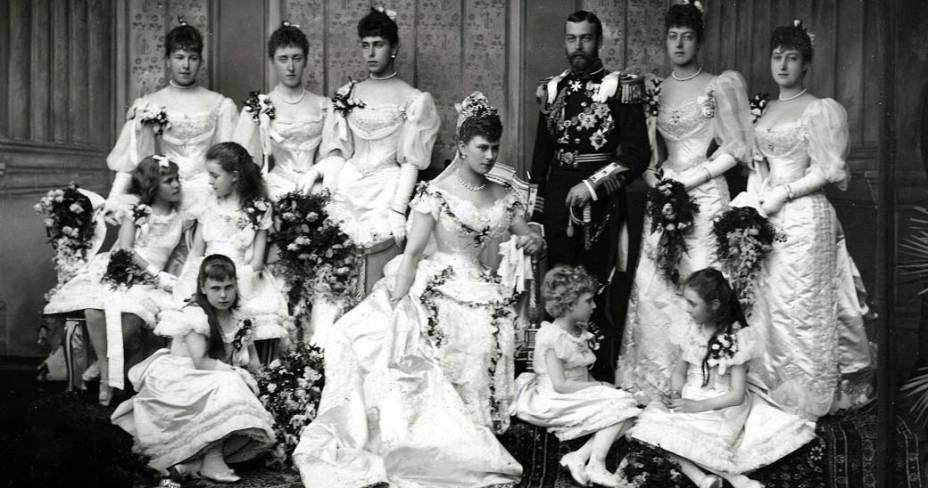 1893 - Rei George V (1865 - 1936) e princesa Mary (1867 - 1953)