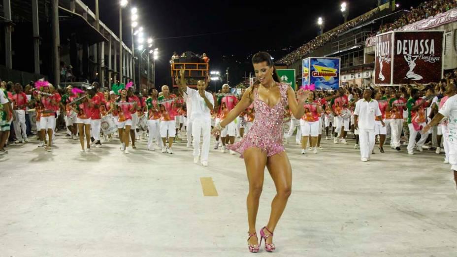 Renata Santos no ensaio técnico das escolas de samba do Rio de Janeiro, na Sapucaí