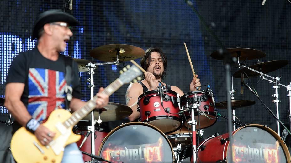 Apresentação da banda República no quarto dia do Rock in Rio 2013