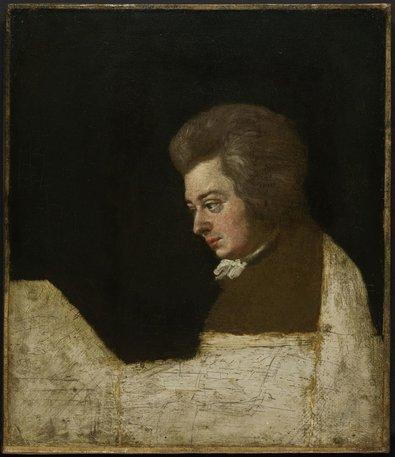 Retrato inacabado de Mozart feito pelo cunhado, Joseph Lange