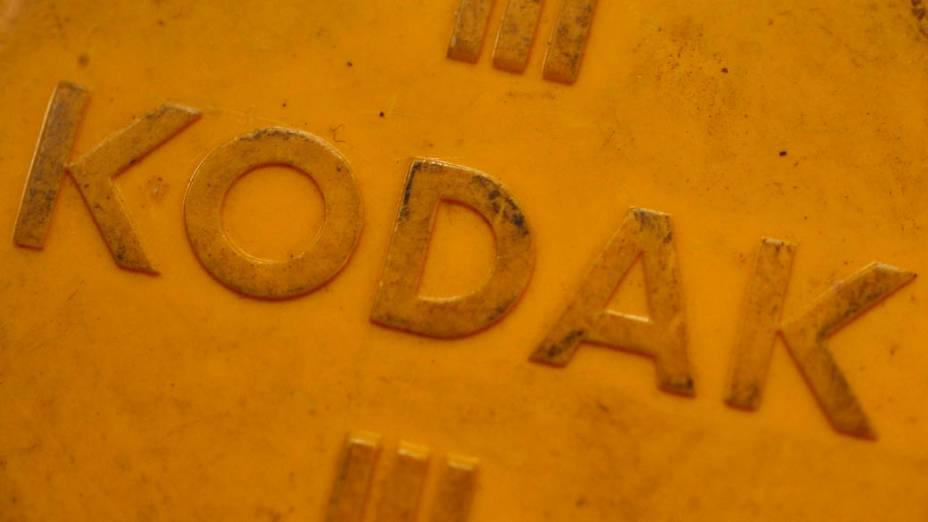 Caixa de filtros da Kodak em loja de Londres