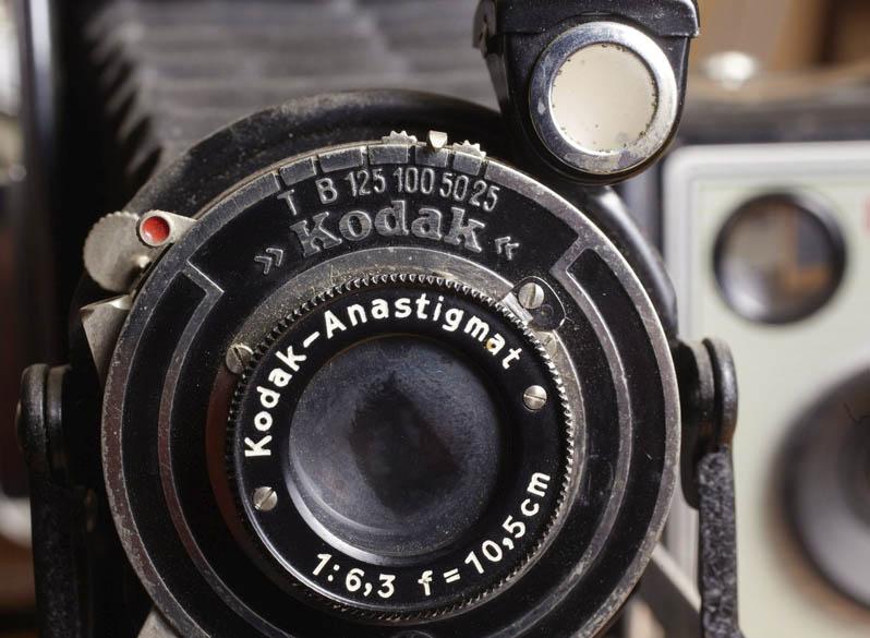 Detalhe de uma das câmeras da Kodak