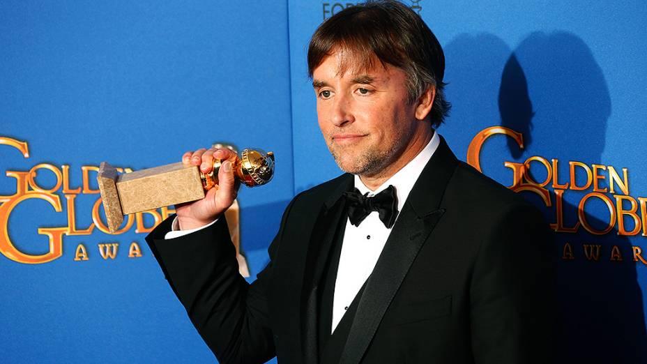 O diretor Richard Linklater durante 72ª edição do Globo de Ouro, prêmio da associação de correspondentes de Hollywood que elege os melhores do cinema e da TV, em Los Angeles, nos EUA