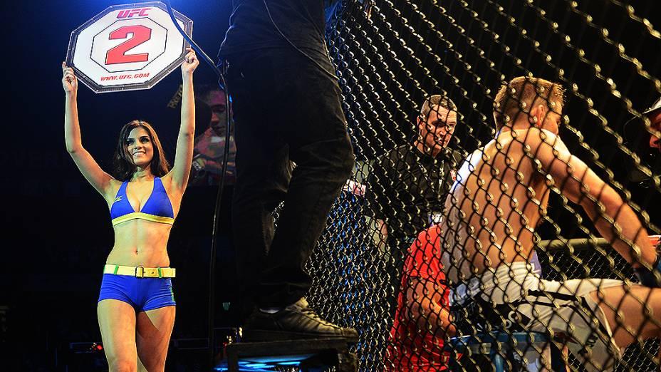 Ring girls durante UFC São Paulo no ginásio do Ibirapuera