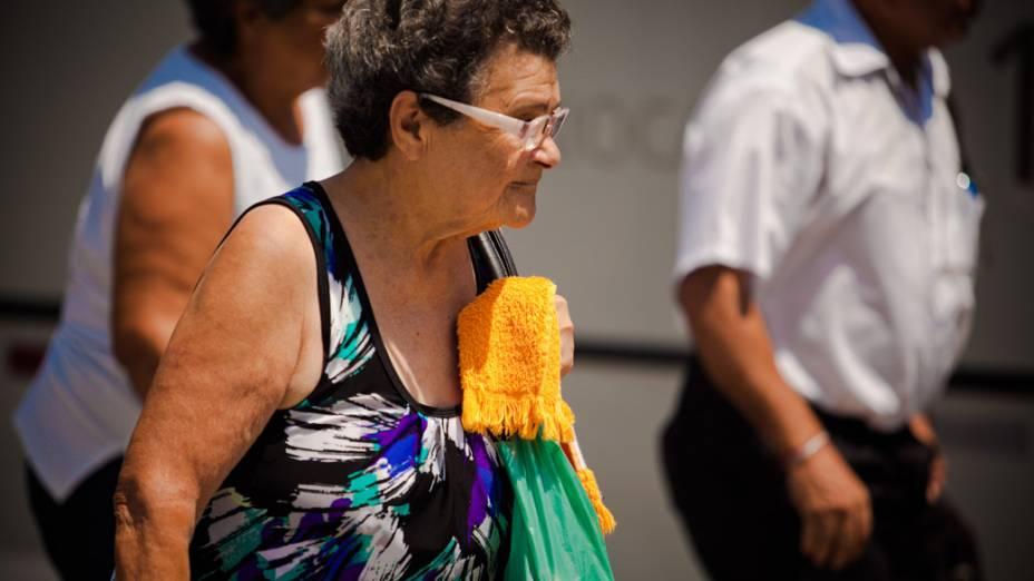 Onda de calor no Rio de Janeiro. Em alguns bairros os termometros chegaram a registrar 40 graus de temperatura