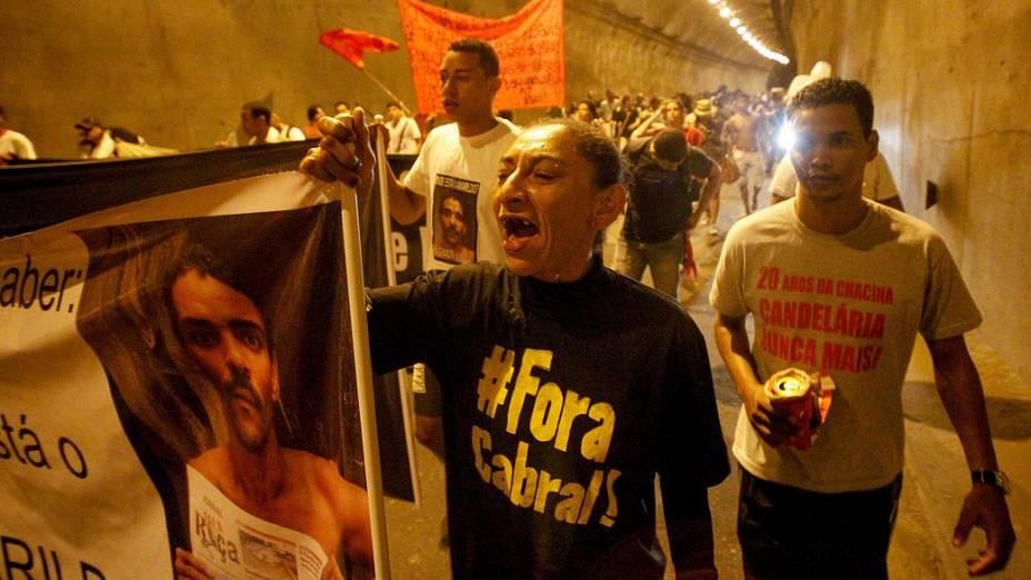 Rio: protesto da Rocinha a Ipanema lembrou o desaparecimento do pedreiro Amarildo