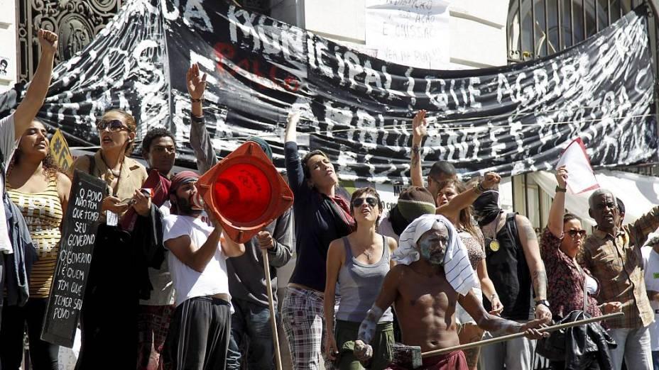Rio: Protestos continuam do lado de fora da Câmara de Vereadores