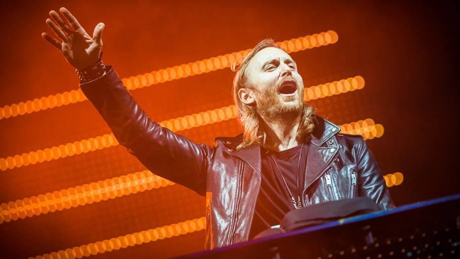 DJ David Guetta se apresenta no palco Mundo, durante a 1ª noite do Rock in Rio 2013