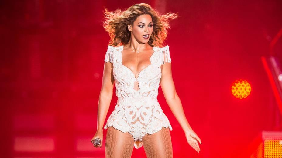 Beyoncé durante show no Rock in Rio 2013