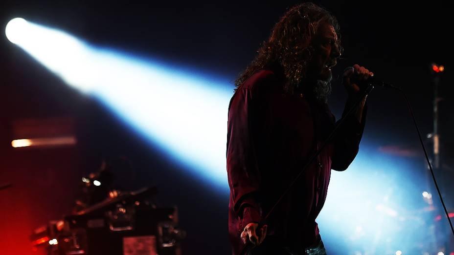 Robert Plant, um dos maiores vocalista do rock, durante o Festival Lollapalooza 2015, no Autódromo de Interlagos, em São Paulo