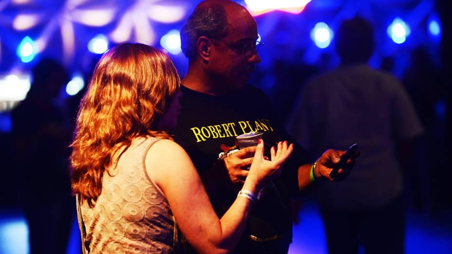 Público durante o show de Robert Plant, ex-vocalista do Led Zeppelin, em São Paulo, no Espaço das Américas
