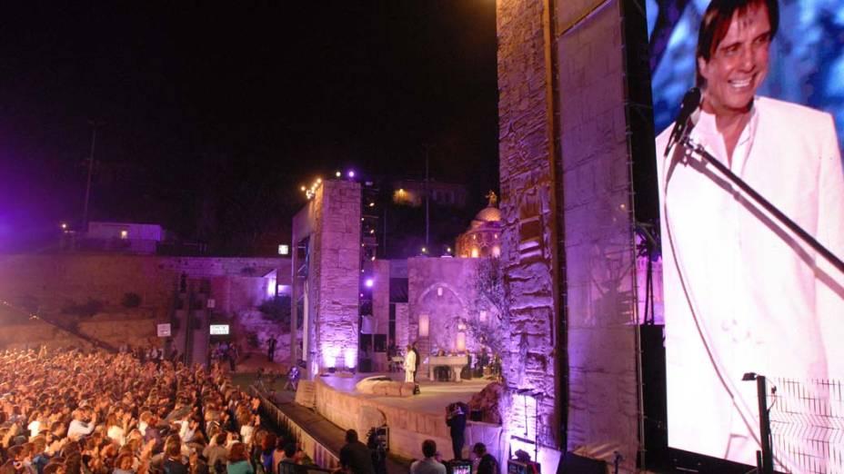 Roberto Carlos durante o show em Jerusalém
