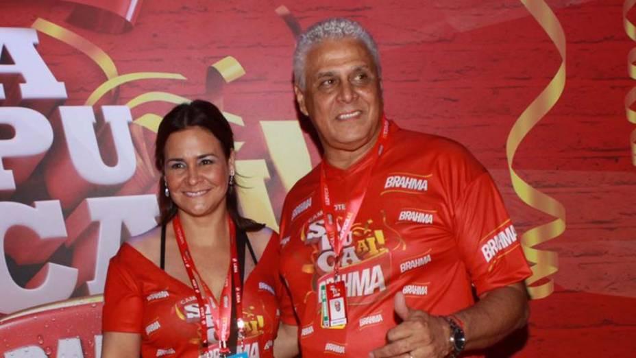 Roberto Dinamite no carnaval do Rio de Janeiro, em 19/02/2012