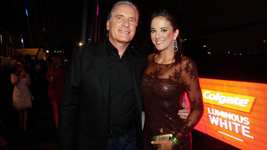 "Roberto Justus e Ticiane Pinheiro, no desfile ""Elle Summer Preview"", promovido pela revista Elle, na Ponte Estaiada"