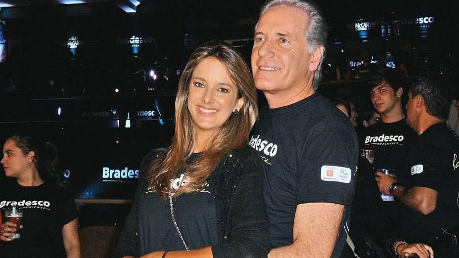 Ticiane Pinheiro e Roberto Justos no show de Paul McCartney, no Estádio do Engenhão