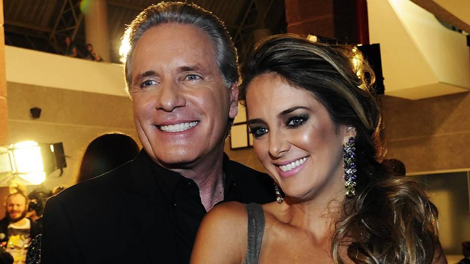 Roberto Justus e Ticiane Pinheiro no Video Music Awards Brasil 2010, no Credicard Hall