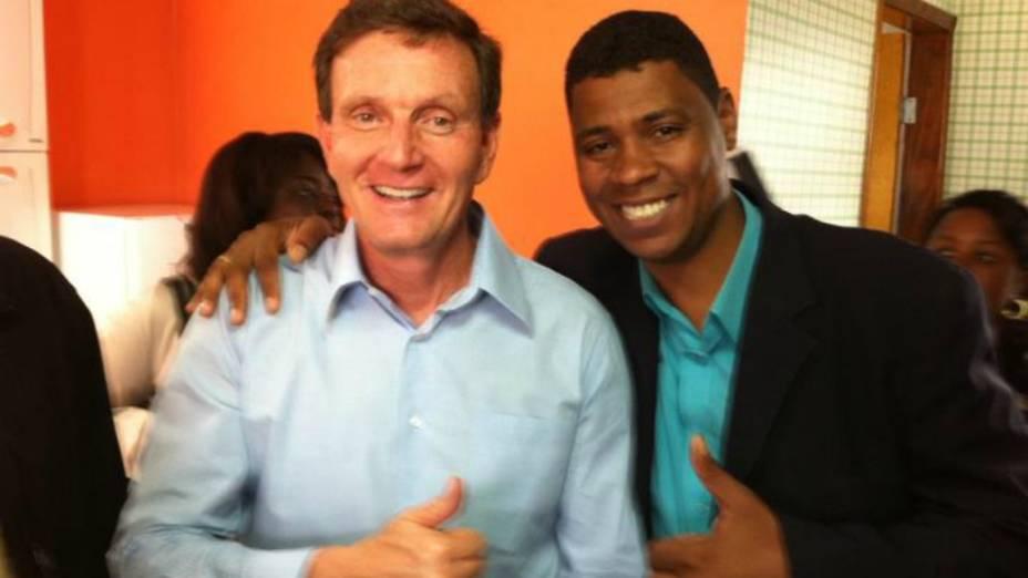 William da Rocinha e seu padrinho no PRB, o senador Crivella
