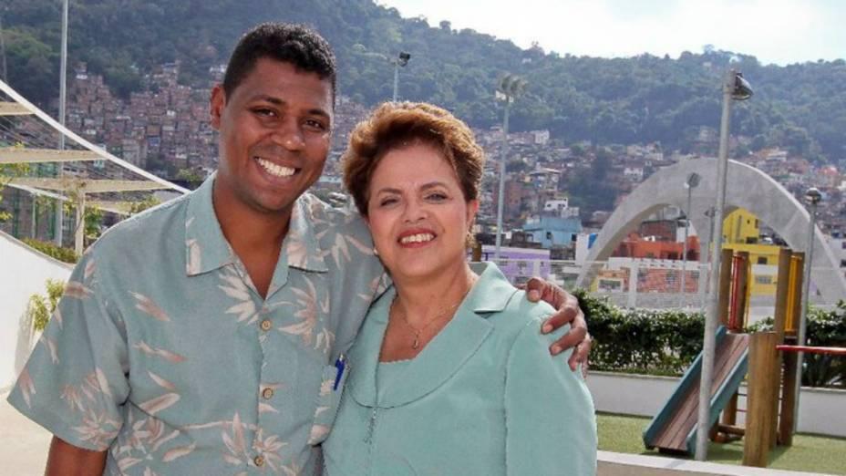 William da Rocinha e Dilma Rousseff, antes da eleição