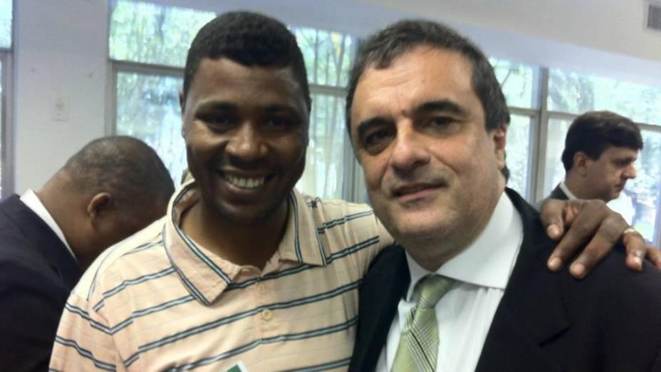 William da Rocinha e o ministro da Justiça, José Eduardo Cardozo