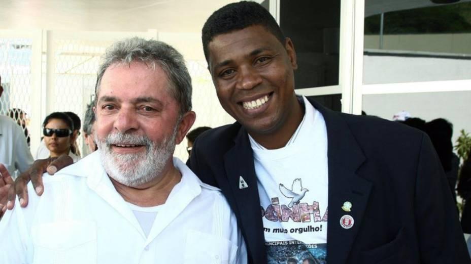 William da Rocinha e o ex-presidente Lula