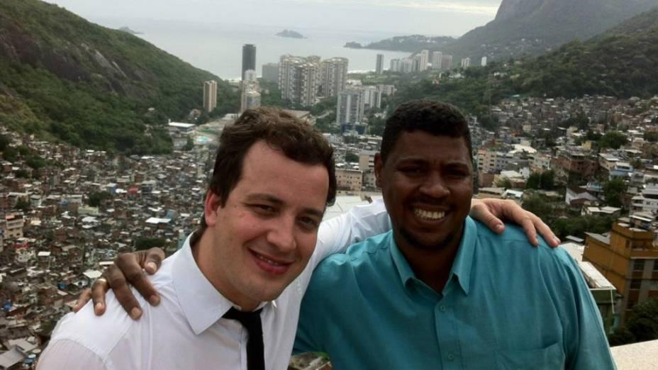 William da Rocinha e Rafael Cortez, do programa CQC