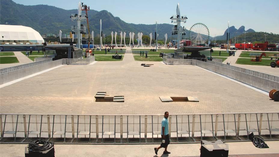 Palco Mundo: a vista que os artistas terão do gramado da Cidade do Rock