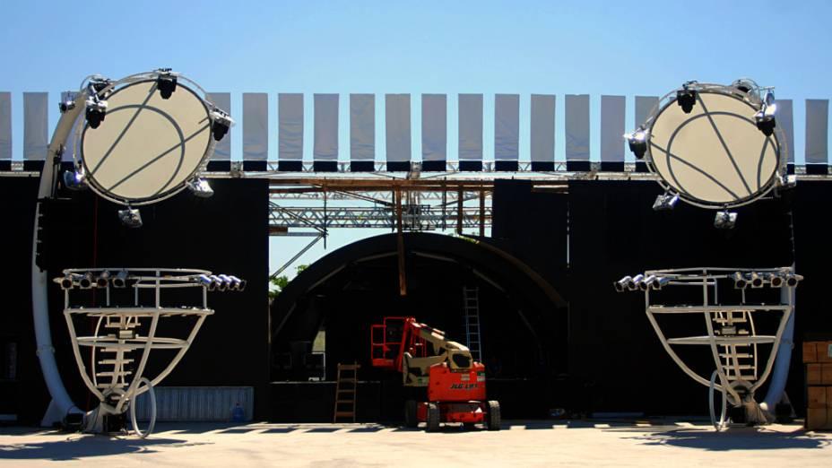 Um dos palcos do Rock in Rio, na contagem regressiva para o início do festival