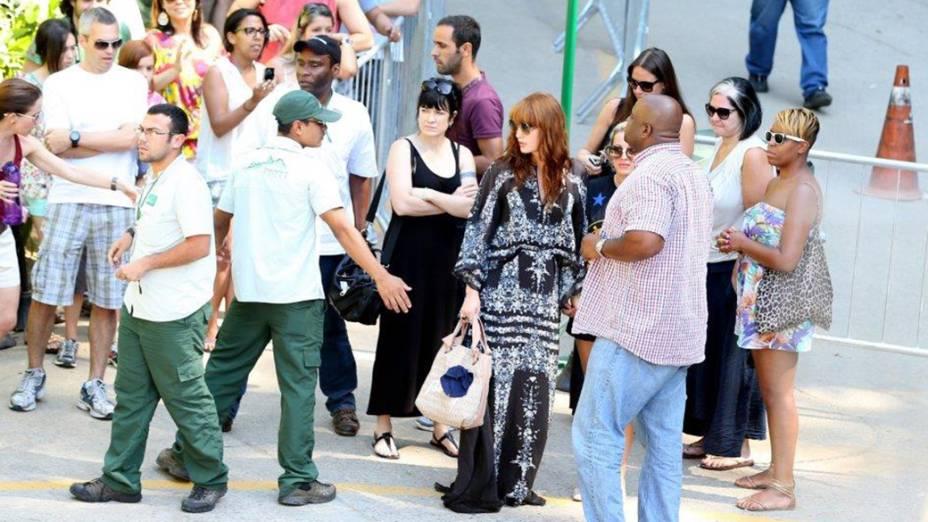 Florence Welch vai ao Cristo Redentor