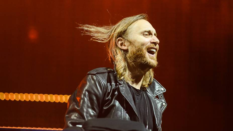 DJ David Guetta se apresenta no palco Mundo, durante a 1ª noite do Rock in Rio 2013