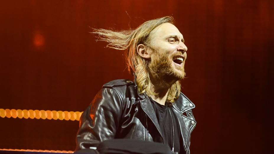 DJ David Guetta se apresentano palco Mundo, durante a 1ª noite doRock in Rio 2013