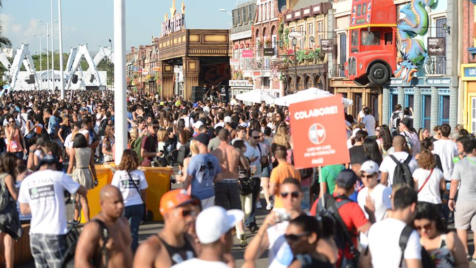 Movimentação no primeiro dia de Rock in Rio